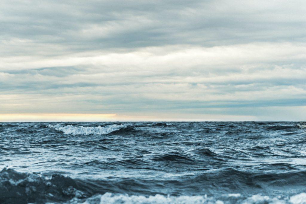 Ozean. Kein Land in Sicht